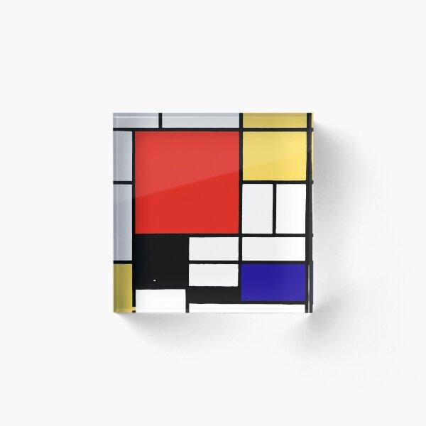 Mondrian  Acrylic Block