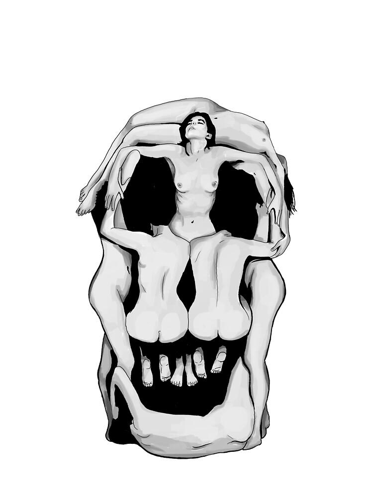 Salvador Dalí's Skulls - BLACK by RockTheShirt