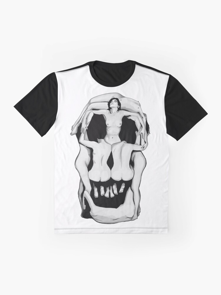 Alternate view of Salvador Dalí's Skulls - BLACK Graphic T-Shirt