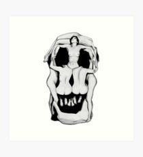 Salvador Dalí's Skulls - BLACK Art Print