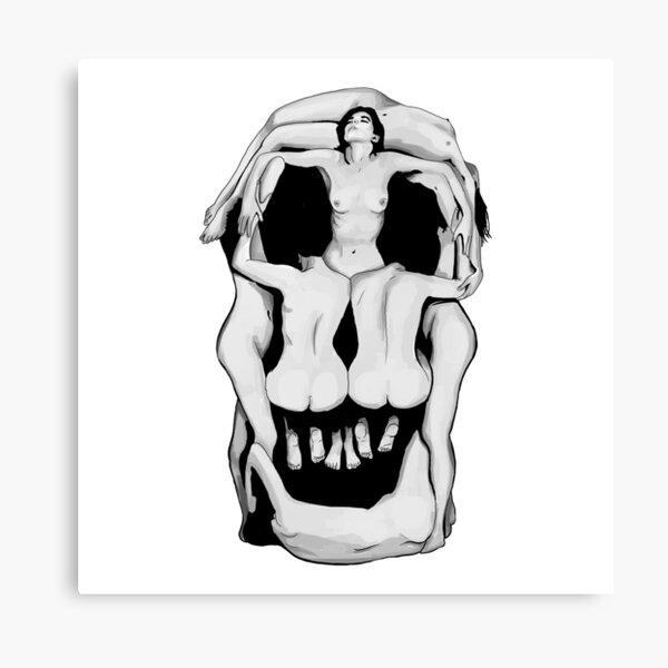 Salvador Dalí's Skulls - BLACK Canvas Print