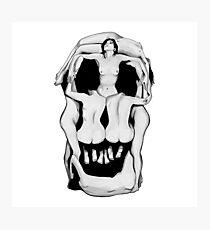 Salvador Dalí's Skulls - BLACK Photographic Print