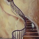 Cat on the Stairs by Sarah  Mac Illustration