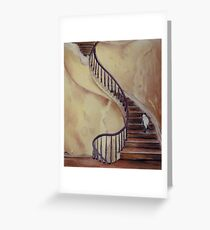 Cat on the Stairs Greeting Card