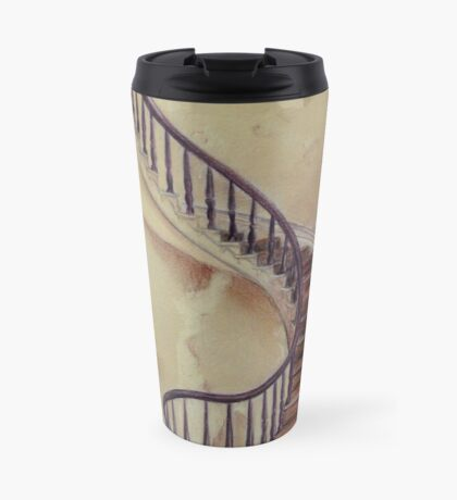 Cat on the Stairs Travel Mug
