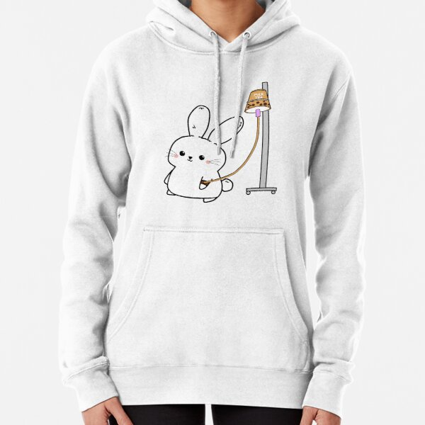 Bubble Tea Bunny Pullover Hoodie