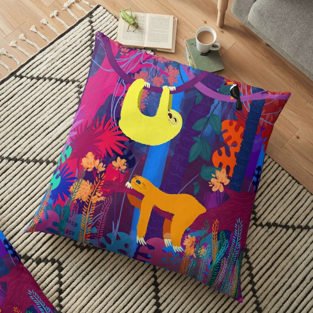 Coussin de sol « The funky nap time»