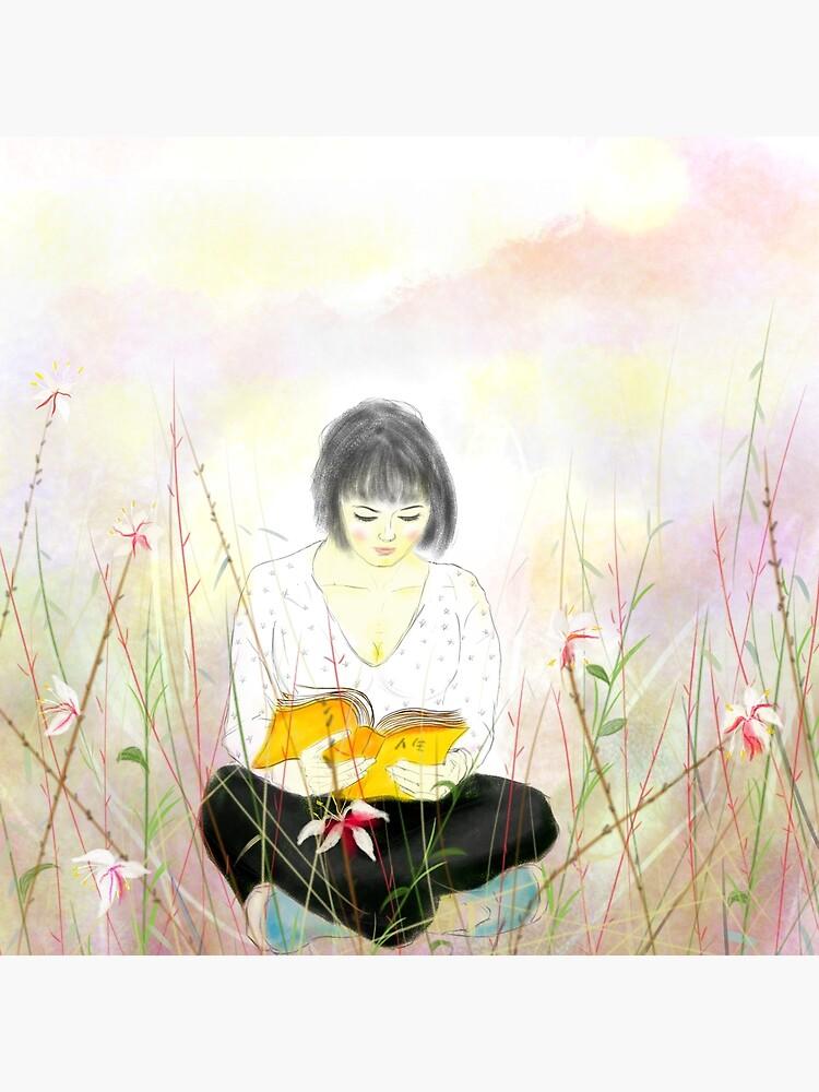 The reading girl by sooloda