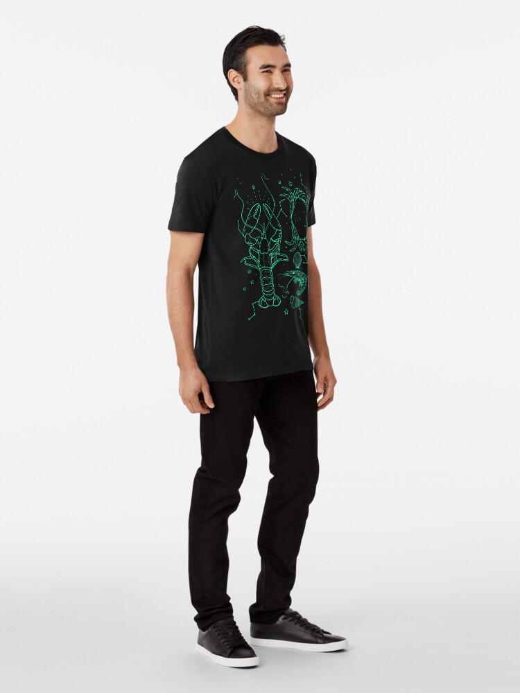 T-shirt premium ''the galactic lobster': autre vue