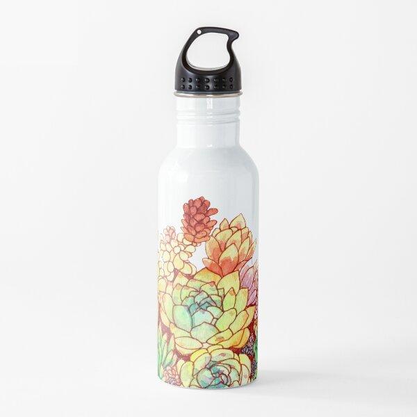 Watercolor Succulents Water Bottle