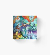 Wing of fire all dragon Pattern Background Acrylic Block