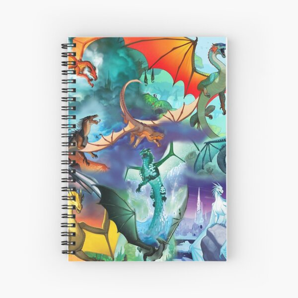 Wing of fire all dragon Pattern Background Spiral Notebook