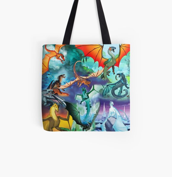 Wing of fire all dragon Pattern Background All Over Print Tote Bag