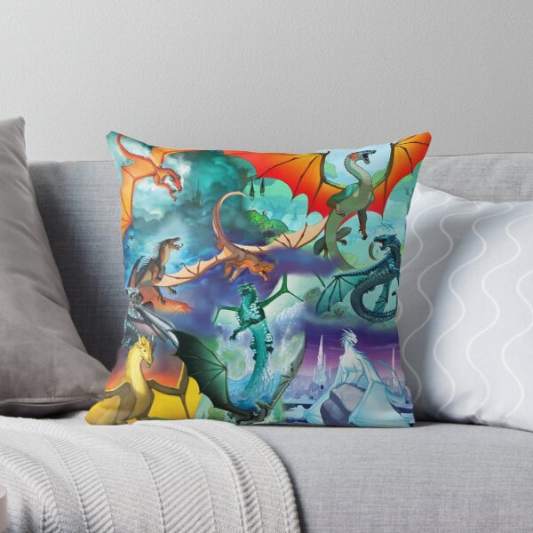 Wing of fire all dragon Pattern Background Throw Pillow