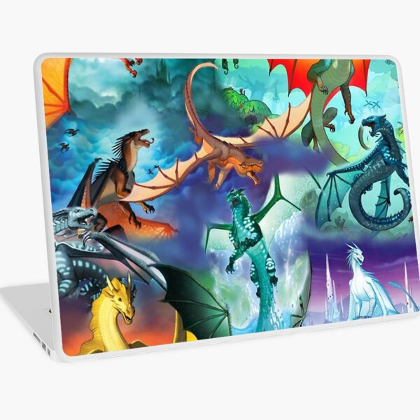 Wing of fire all dragon Pattern Background Laptop Skin