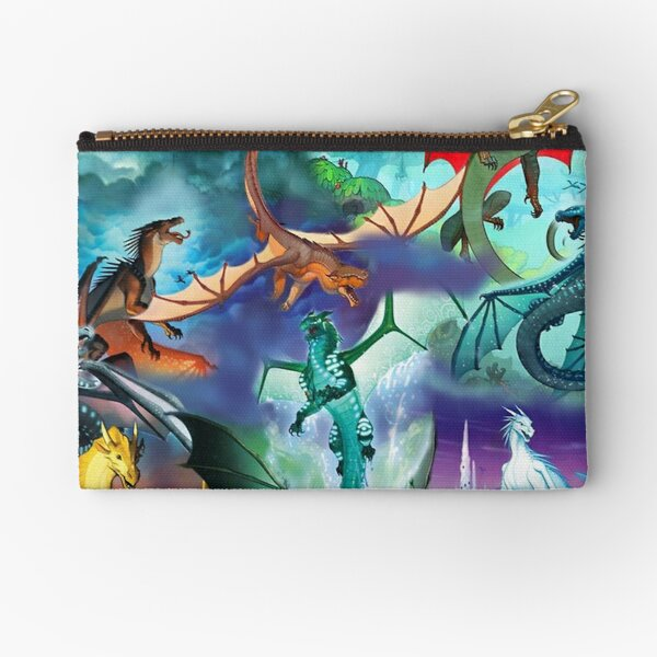Wing of fire all dragon Pattern Background Zipper Pouch