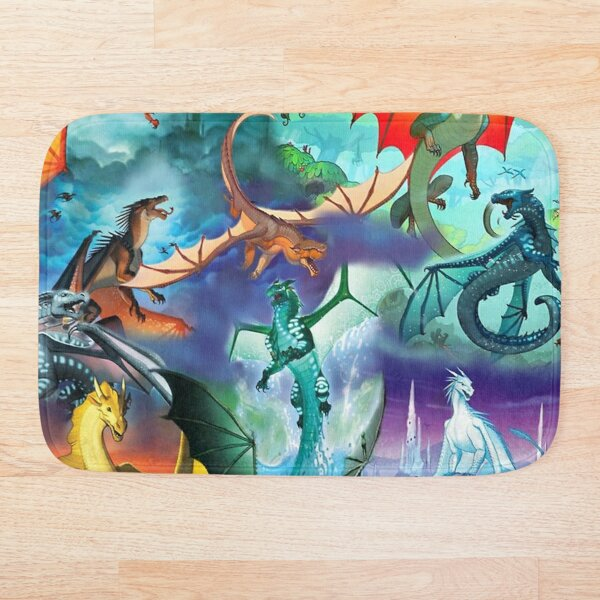 Wing of fire all dragon Pattern Background Bath Mat