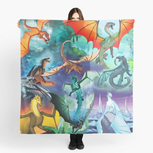 Wing of fire all dragon Pattern Background Scarf