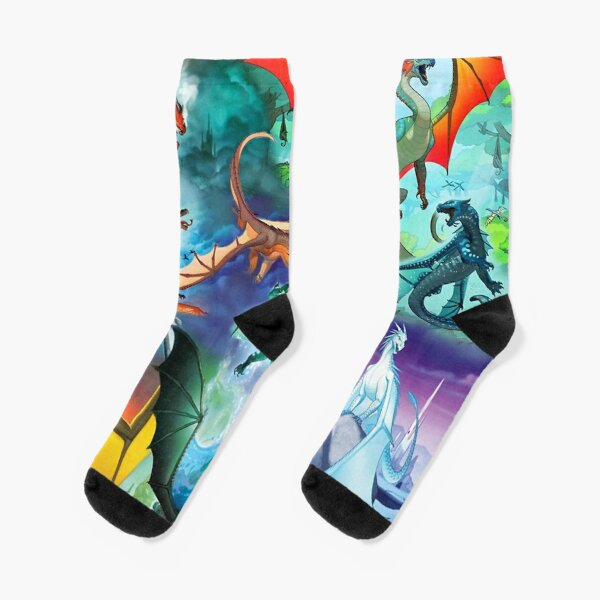 Wing of fire all dragon Pattern Background Socks