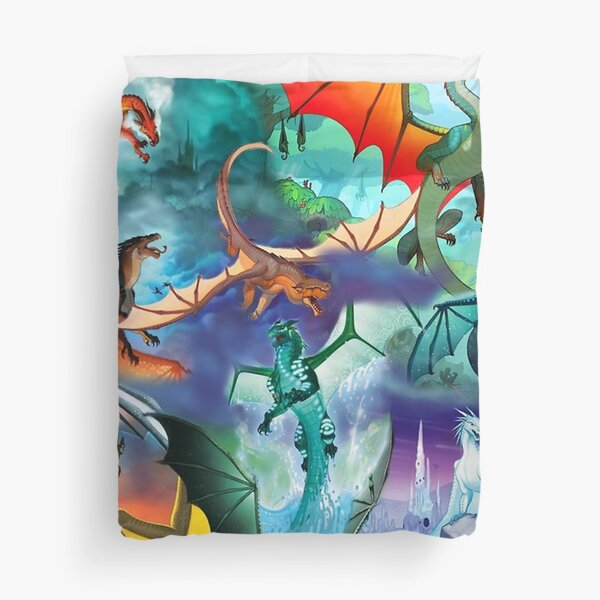 Wing of fire all dragon Pattern Background Duvet Cover