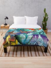 Wing of fire all dragon Pattern Background Throw Blanket