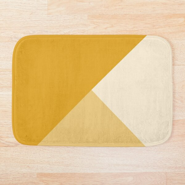 Gradient Geometry - Mustard Bath Mat