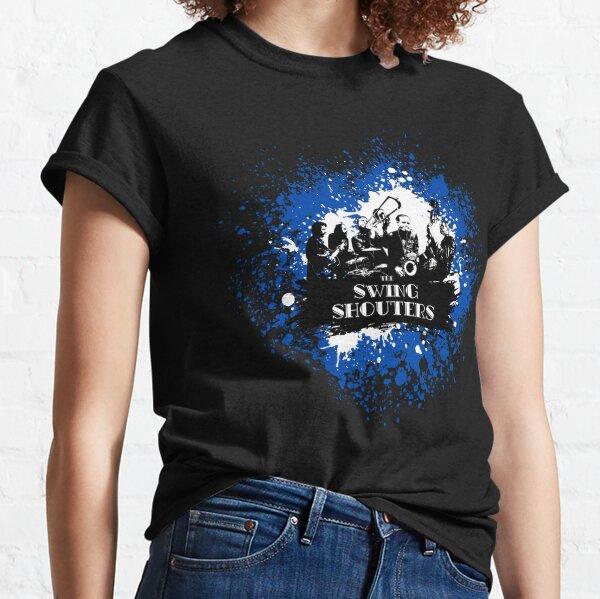 Swing Shouters - Peinture Bleu & Blanc T-shirt classique