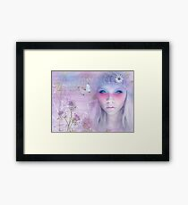 Sometimes....I can hear your smile. Framed Print
