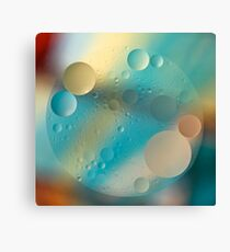 Oil and Water ~ Pastel Canvas Print