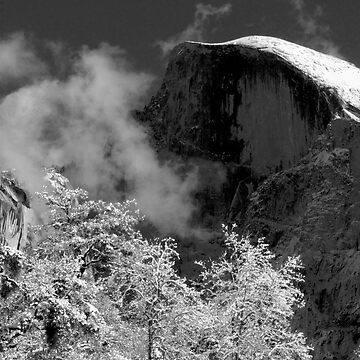 Half Dome in Snow by mbinder