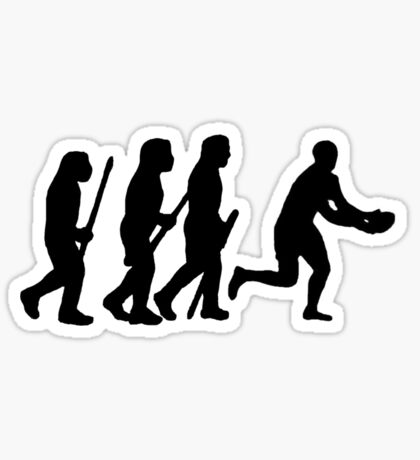 evolution of rugby Sticker