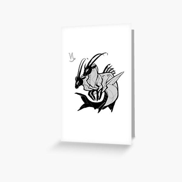 DoubleZodiac - Capricorn Sheep/Goat Greeting Card