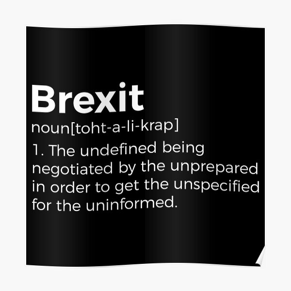 Brexit Definition Funny Poster