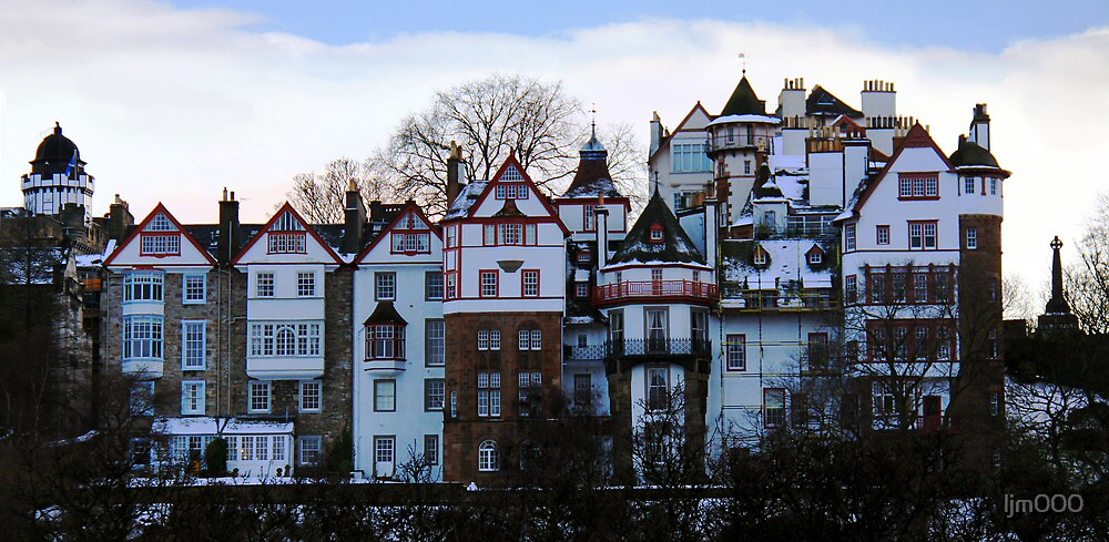 Ramsay Gardens at dusk, Edinburgh by ljm000
