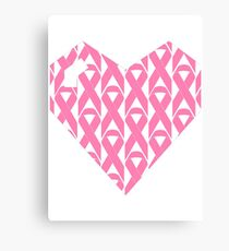 Breast Cancer Love n Support Canvas Print
