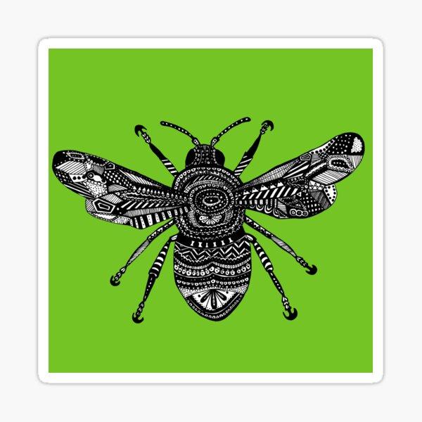 Green Bee Sticker