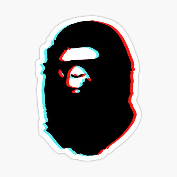 bape trippy Sticker