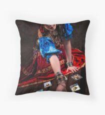 Gipsy Tarot Magic Throw Pillow