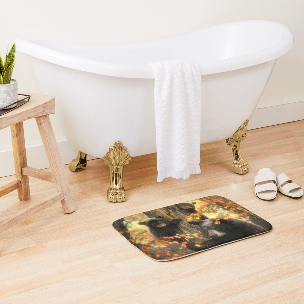 Black Bears Bath Mat