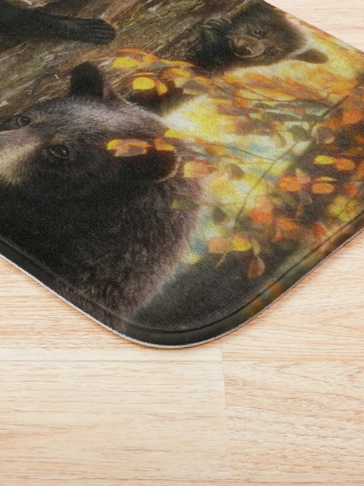Alternate view of Black Bears Bath Mat