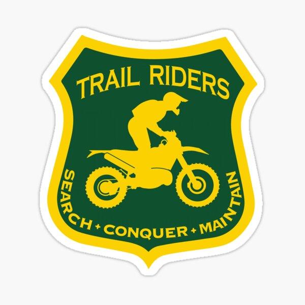 Trail Riders Buscar • Conquistar • Mantener Pegatina