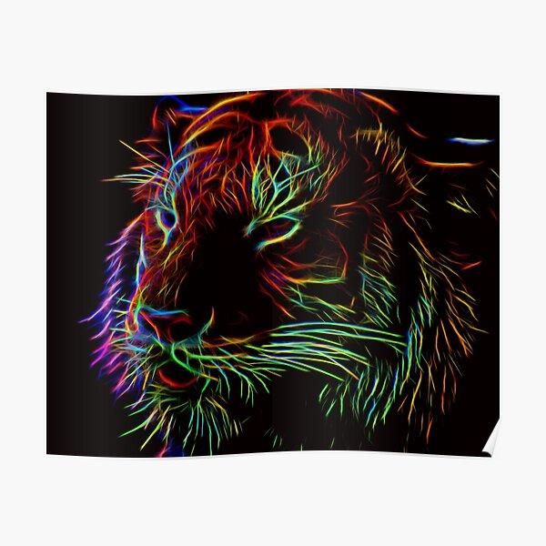 Glowing Tiger Poster