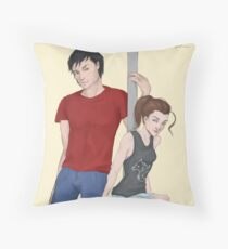 Modern AU Arya and Gendry Throw Pillow