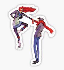 Pull me up - Wintery Romance - Antagonistic - Big red bits - Aw yeah Sticker