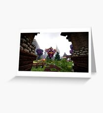 Minecraft Shader Picture Greeting Card