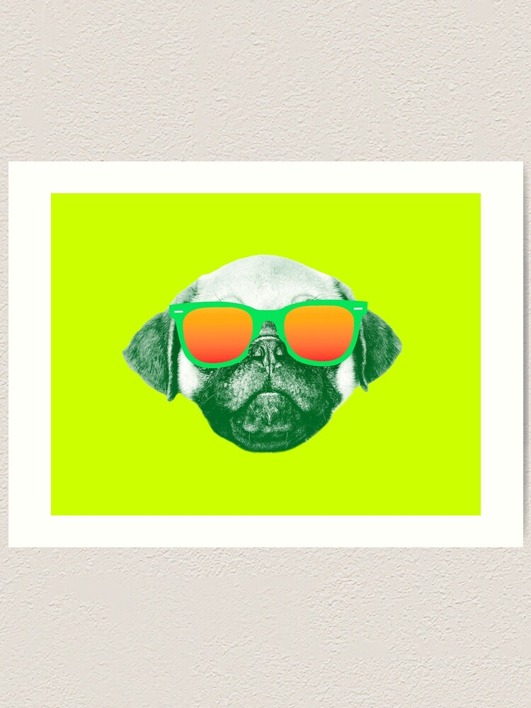 Alternate view of Funny Dog with Sunglasses Art Print