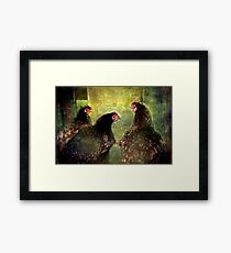 """Have you heard ...?"" Framed Print"