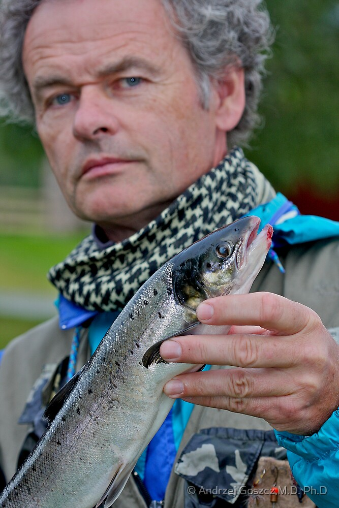 That's me! fishing for Atlantic salmon in Namsen River in Norway . by Brown Sugar. F* Views (539) favorited by (4) thank you a bunch !!!) by © Andrzej Goszcz,M.D. Ph.D