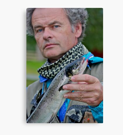 That's me! fishing for Atlantic salmon in Namsen River in Norway . by Brown Sugar. F* Views (539) favorited by (4) thank you a bunch !!!) Canvas Print