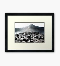 Giants Causeway Rocks Framed Print
